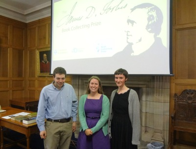Prizewinner Dawn Hollis (centre), with Eloise Bennett and Scott Schorr, who received honorable mentions.