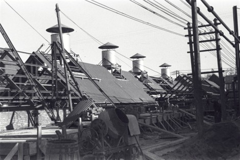 Photo of the new buildings at the paper mills, Markinch, by Sir David Russell 1935 [ID 2-23-1].