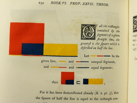Book VI, Proposition 27 of Oliver Byrne's 1847 edition of Euclid's Elements.