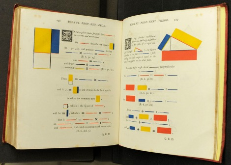 Book VI, Propositions 30 & 31 of Oliver Byrne's 1847 edition of Euclid's Elements.