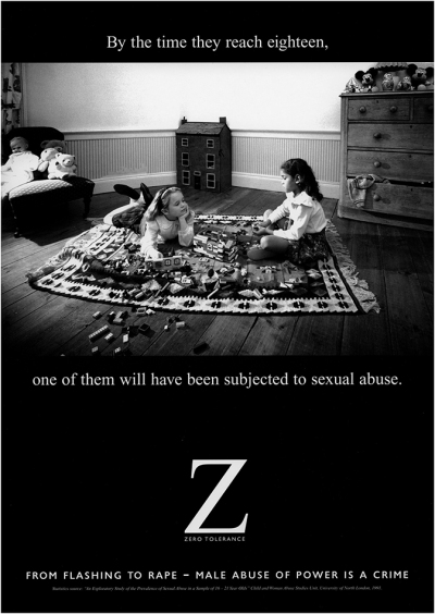 An image used for the Zero Tolerance campaign. ©Franki Raffles Estate