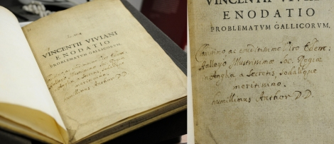 Viviani's presentation copy of his Enodatio to Edmond Halley from the Mackay Collection.
