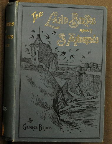 A Beautiful Cover showing Andrews Castle from the Scores (Don QL690.S3B8). The collection includes important books of local interest.