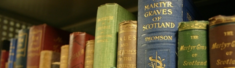 Books from the David Hay Fleming Collection.