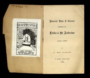 David Hay Fleming bookplate (Hay GV963.S1).