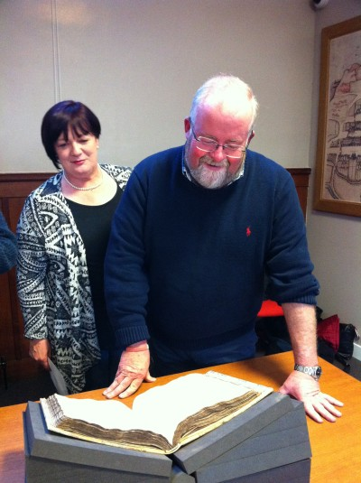 Stuart and Meg Minick, of Minick's Artisan Butchers, with the Fleshers book