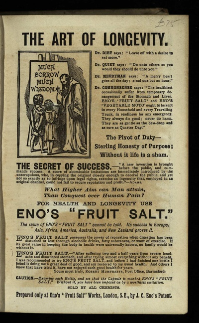 Eno's Fruit Salt, in Spanish Galleon (1893), Har PR4049.B34S7