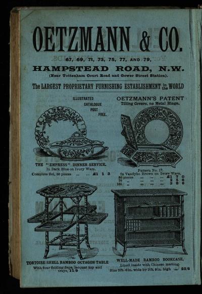 Oetzmann's oriental furniture, in Lorna Doone, Har PR4132.L67 1893