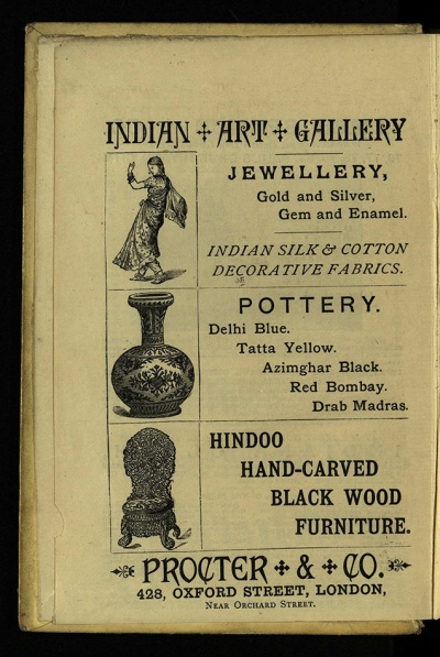Procter & Co. Indian Art Gallery, in With Harp and Crown, Har PR4104.W58 1882