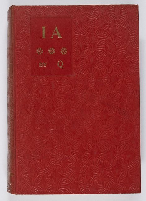 We failed to find an example of pansy grain in our collections (although there must be one somewhere), but this binding, from 1896, is reminiscent of the pansy grain. Arthur Thomas Quiller-Couch, Ia (London: Cassell and Co. Ltd, 1896), r PR5194.I2.