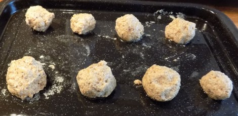 Rock buns ready for the oven (first go)