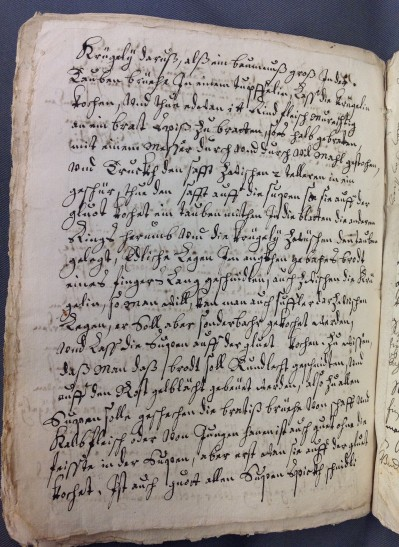 An example of a page in the recipe book
