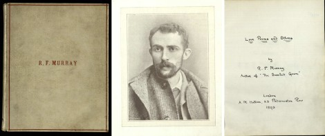 Cover of RF Murray book, portrait of Murray and title page, all msPR5101.M5 ms5477