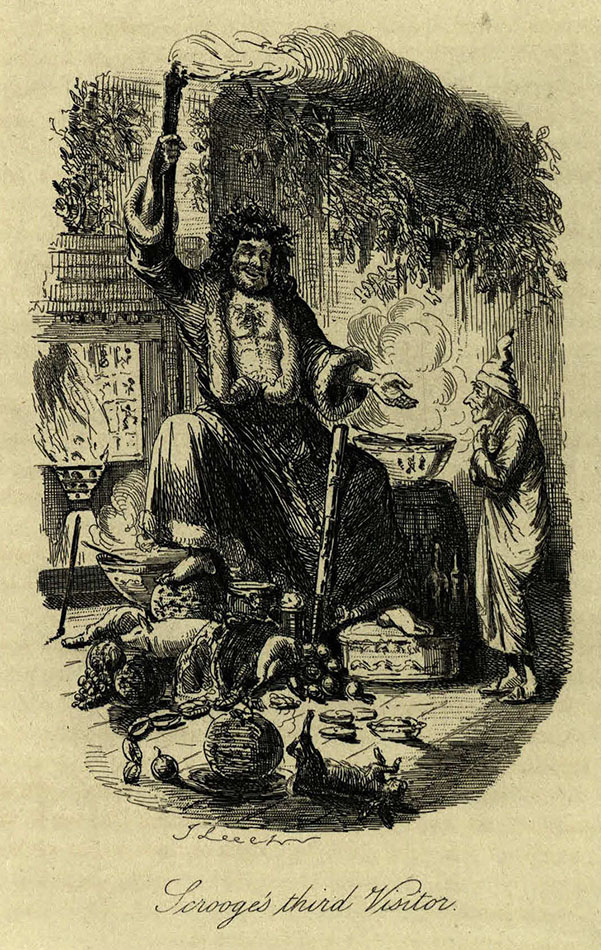 christmas cheer around the ghost of christmas present christmas books by charles dickens 1894