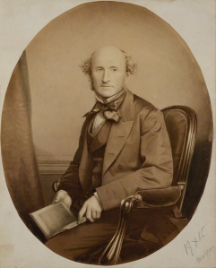 by John & Charles Watkins, or by John Watkins, albumen print, partially over-painted in ink wash, 1865