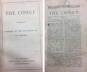 The Comet was a student magazine produced in academic year 1865/66 (StA LF1119.A2C71)