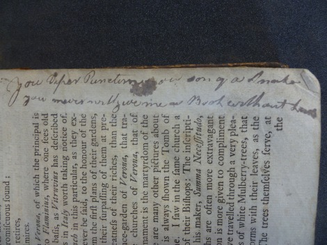 In Joseph Addison's Works, Vilant is called a 'Viper' and a 'son of a Snake' for obstructing a student's access to the library's resources.  s.PR3300.D21, Vol. 2, p. 21.