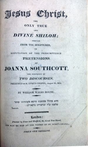 Joanna Southcott pamphlet