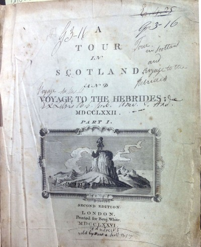 A tour in Scotland, and voyage to the Hebrides; MDCCLXXII. Part I.