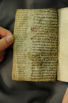 This fragment actually formed the whole cover for the book! The outside has been worn away but the inside is still fairly readable! (TypFP.BO6LA)