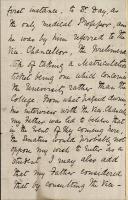 Letter from Elizabeth Garrett to J D Forbes