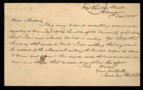 Letter from Jessie Anne Glen