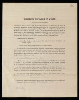'University Education of Women, 12 March 1881