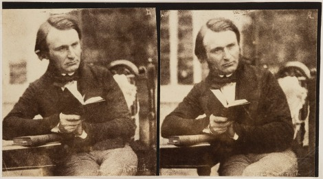 John Adamson, self portrait in stereo. SAUL ID ALB-24-96.2_1