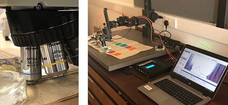 Microscopy spectrometer