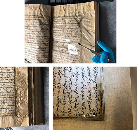 Selection of damaged pages
