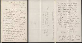 Letter from John Ruskin to George Forbes, 1873