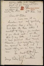 Letter from John Ruskin to George Forbes, 1874