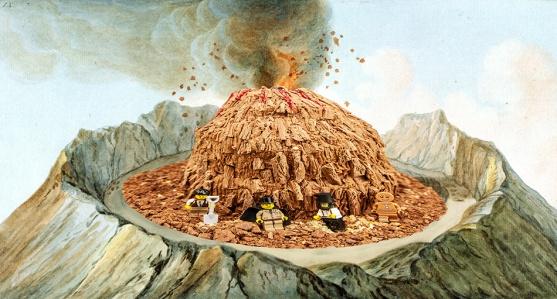Photoshop volcano cake