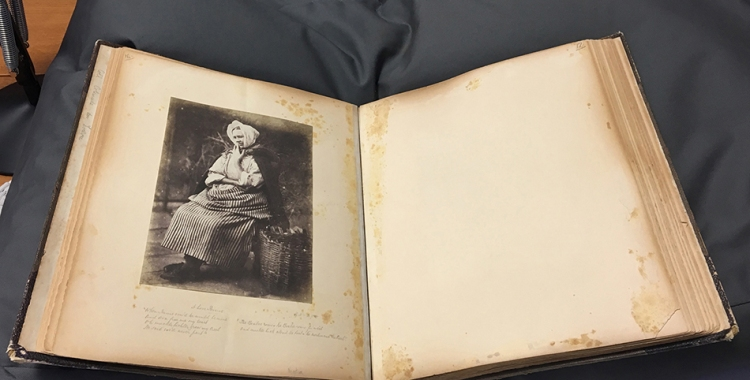 Photograph Album with image of a woman